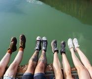 朋友旅行一起假日冒险概念 免版税库存照片