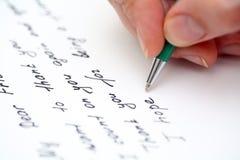给朋友的文字信件 免版税库存图片