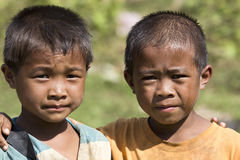 朋友老挝 库存图片