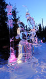 朋友葡萄冰我的雕塑 库存图片
