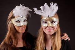 朋友carnaval面具 库存图片