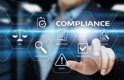 服从统治法律章程政策企业技术概念 免版税库存照片
