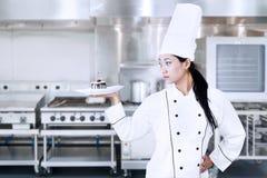 典雅的厨师 库存照片