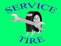 服务中心的机器人轮子商标 库存图片