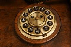 服务台拨号光盘老电话s 库存图片