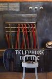 服务台运算符s电话葡萄酒 免版税库存图片