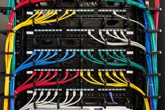 服务器和导线 库存图片