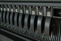 服务器和袭击存贮 免版税库存图片