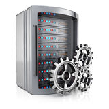 服务器和钝齿轮 库存例证