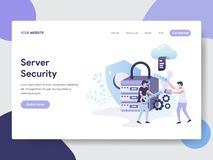服务器安全例证概念登陆的页模板  网页设计的现代平的设计观念网站的和 皇族释放例证