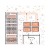 服务器室和数据中心 免版税库存照片