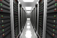 服务器室现代内部datacenter的 免版税库存照片
