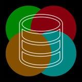 服务器数据库连接,备用存储器 库存例证