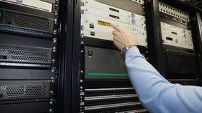 服务器的前方 数据中心 库存照片