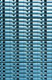 服务器磁盘存储无缝的蓝色背景。 库存图片