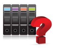 服务器问号例证 免版税库存图片