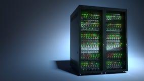 服务器 云彩计算的数据存储3d翻译 免版税库存图片