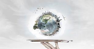 服务地球行星 图库摄影