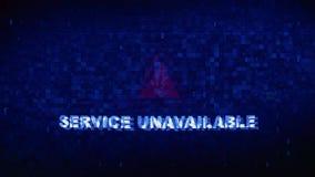 服务无法获得的文本数字噪声抽搐小故障畸变作用错误动画 向量例证