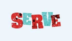服务概念被盖印的词艺术例证 免版税库存图片