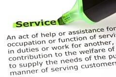 服务的定义 免版税库存照片