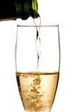服务的香槟杯子 免版税库存照片