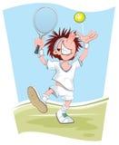 服务网球员 库存例证