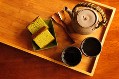 服务茶 免版税图库摄影