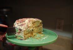 服务101的蛋糕 免版税库存图片