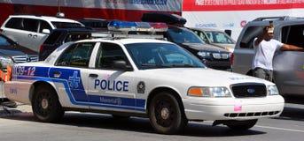 服务de police de la Ville de蒙特利尔的汽车 免版税图库摄影