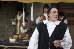 服装中世纪当事人 库存图片