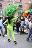 服装同性恋自豪日游行的扮装皇后 免版税图库摄影