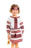 服装女孩一点国家乌克兰语 免版税库存照片