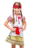 服装女孩一点国家乌克兰语 库存照片