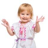 服装女孩一点国家乌克兰语 免版税库存图片