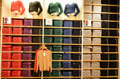 服装店在上海 免版税库存图片