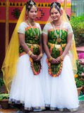 服装的印地安妇女舞蹈家 库存照片