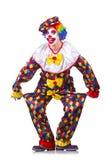 服装的小丑 免版税库存图片