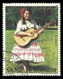 服装的巴拉圭妇女 免版税图库摄影