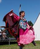 服装的当地舞蹈家埃德蒙顿遗产天2013年 免版税库存图片