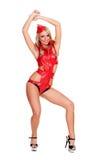 服装的戈戈舞的舞蹈家 库存图片
