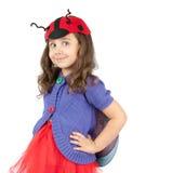 服装逗人喜爱的女孩一点 免版税库存图片