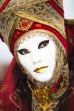 服装金子红色威尼斯式 图库摄影