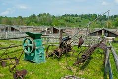 晴朗天气的国家农场 免版税库存图片