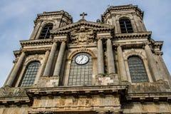 朗格勒,法国大教堂  免版税库存照片