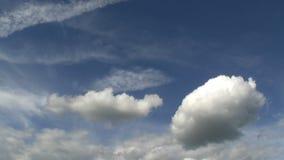 晴朗的天气云彩 股票视频