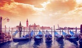 晴朗的早晨在威尼斯 库存照片
