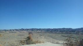 晴朗的早晨山金黄沙漠 图库摄影