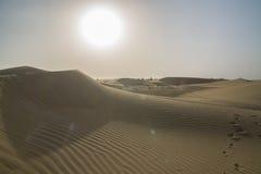 晴朗的沙漠 库存图片