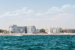 晴朗的海滩胜地在保加利亚 免版税库存图片